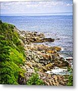 Atlantic Coast In Newfoundland Metal Print
