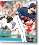Boston Red Sox V Cleveland Indians Metal Print