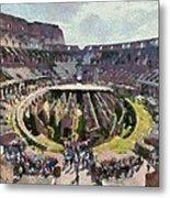 Colosseum In Rome Metal Print