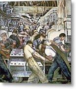 Diego Rivera - Detroit Metal Print