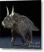 Dinosaur Diceratops Metal Print