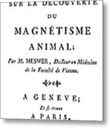 Franz Mesmer (1734-1815) Metal Print