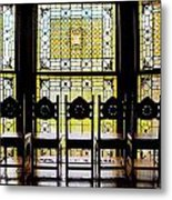 7 Hairs And Stained Glass Db Metal Print