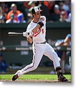 Kansas City Royals V Baltimore Orioles Metal Print