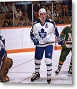 Minnesota North Stars v Toronto Maple Leafs Metal Print