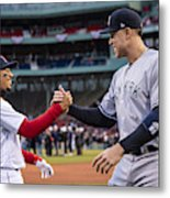 New York Yankees v Boston Red Sox Metal Print