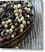Peppercorn And Spoon Metal Print