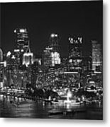 Pittsburgh Skyline At Night Metal Print