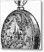 Pocket Watch, 19th Century Metal Print