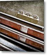 1969 Pontiac Gto Taillight Emblem -0475a Metal Print