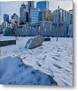 Rare Winter Scenery Around Charlotte North Carolina Metal Print