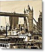 River Thames View Metal Print