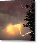 Rounds 2 3 Late Night Nebraska Storms Metal Print