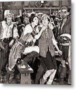 Silent Film Still: Pirates Metal Print