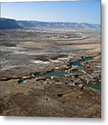 Sinkholes In Northern Dead Sea Area Metal Print