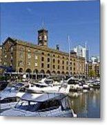St Katherines Dock London Metal Print