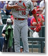 St Louis Cardinals V Colorado Rockies Metal Print
