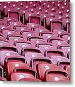 Stadium Seats Metal Print