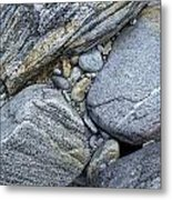 Stones From Verzasca Valley Metal Print
