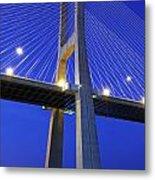 Vasco Da Gama Bridge In Lisbon Metal Print