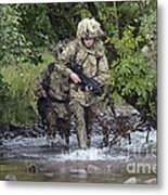 Welsh Guards Training Metal Print