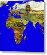 Modern World Map  Metal Print