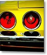71 Camaro Tail Lights Metal Print