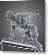 Exercise Workout Metal Print