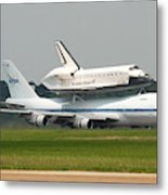 747 Carrying Space Shuttle Metal Print