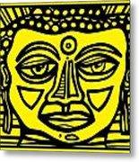 Jakubek Buddha Yellow Black Metal Print