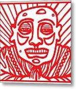 Pisco Buddha Red White Metal Print