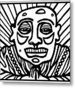 Lorton Buddha Black And White Metal Print