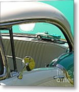 #766 D86 Mini Holiday Oldsmobile Antique Cars  Metal Print