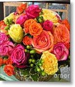 #790 D300 Roses Super Bright Metal Print