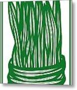 Hassenplug Plant Leaves Green White Metal Print