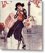 1920s France La Vie Parisienne Magazine Metal Print