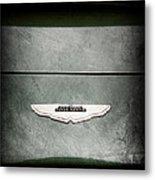 1959 Aston Martin Db4 Gt Hood Emblem Metal Print