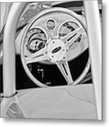 1959 Devin Ss Steering Wheel Metal Print