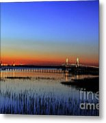 Lights Blaze In Dusking Sky Metal Print