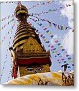 Bodhnath Stupa In Nepal Metal Print