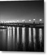 Bridge Of Lions St Augustine Florida Painted Bw Metal Print