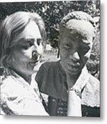 British-born Sculptress Completes Bust Of President Nyerere Metal Print
