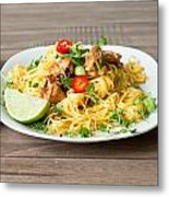 Chicken Noodles Metal Print