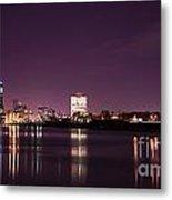City Lights Skyline Metal Print