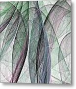Colorful Silk Scarf Metal Print