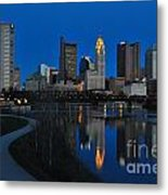 Columbus Ohio Skyline At Night Metal Print