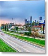Early Morning Sunrise Over Charlotte City Skyline Downtown Metal Print