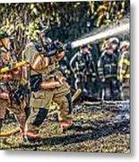 Firefighters Metal Print