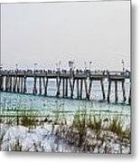 Florida Beach Scene Metal Print