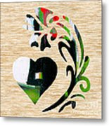 Heart And Flowers Metal Print